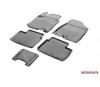 Автомобильные коврики салона Kia Ceed II 2012- Hatchback 3D/5D, полиуретан, низкий борт, 5 предметов, крепеж для передних ковров