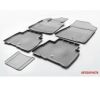 Автомобильные коврики салона Kia Sorento II 2012- , полиуретан, низкий борт, 5 предметов, крепеж для передних ковров
