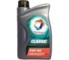 Универсальное моторное масло TOTAL CLASSIC 5W-40 (1л) синтетическое.