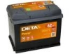 Аккумулятор DETA POWER 12 V 62 AH 540 A ETN 1(L+) B13 242x175x190mm 15.6kg